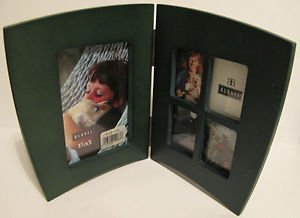 Wooden Green Double Sided Single & Collage Photo Frame