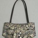 Victoria's Secret Evening Gold Leaf Pring Tote Handbag