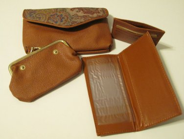 Hand Purse with Separate Card Holder, Change Purse and Bill Holder
