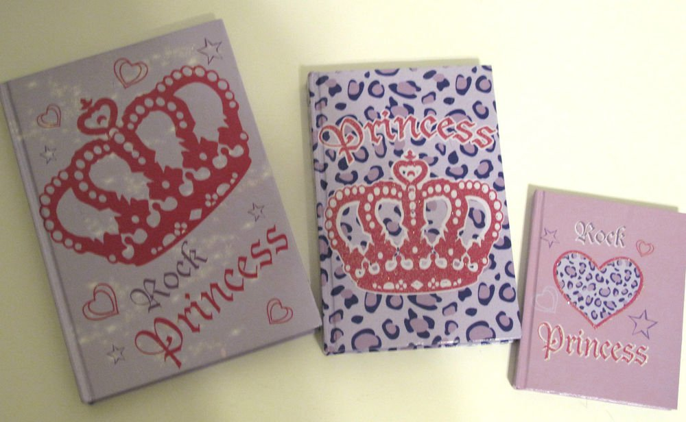 Writing Books & Address Book Bundle, Rock Princess Lilac Hardcover, set of 3