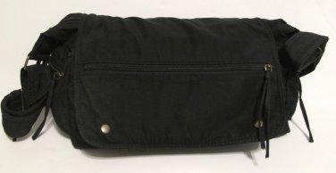 Black Flapped Purse 6 Pockets