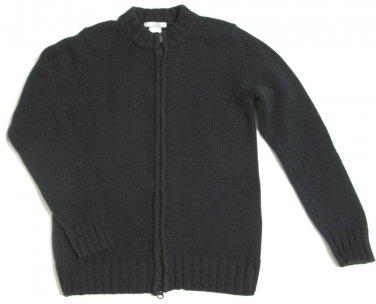 Black Full Zipper Long Sleeve Women's Sweater Size 6/8