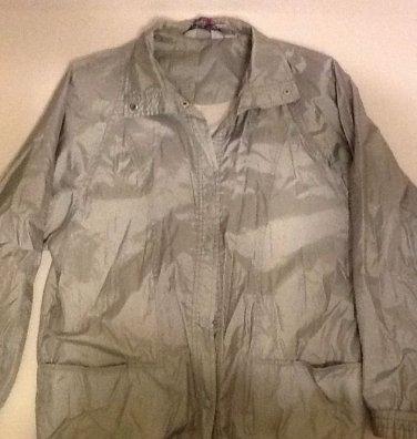 Silver Windbreaker Jacket