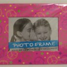 Pink Peace & Stars Trimmed Photo Frame
