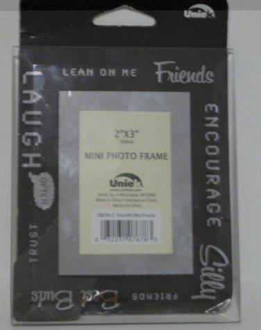 Glass Border Mini 2 x 3 Photo Frame