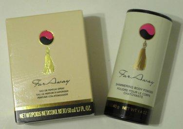 Avon Far Away Eau de Parfum Spray 1.7 fl. oz. & Body Shimmering Powder 1.4 oz.