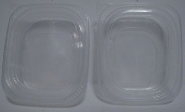 Clear Plastic Containers 1 1/2 cup Capacity recyclable no 5, Set of 2