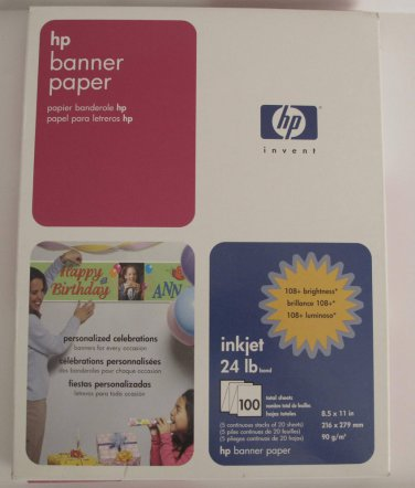 HP Banner Paper 8.5 x 11 in. 90 sheets