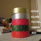 Kawaii Holiday Christmas snowflake fuchsia masking tape