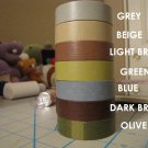 Kawaii light brown solid color masking tape