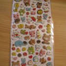 Kawaii Q-lia cork animals sticker sheet