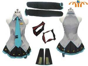 Miku Hatsune Cosplay Costume 2, Any Size!