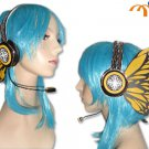 Miku Hatsune Headphones Cosplay Accessory, Yellow Butterfly!