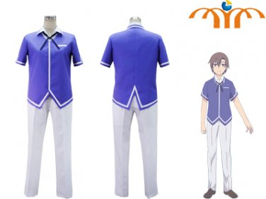 Ore no Kanojo to Osananajimi ga Shuraba Sugiru Anime Eita Kiton Uniform Cosplay Costume, Any Size!
