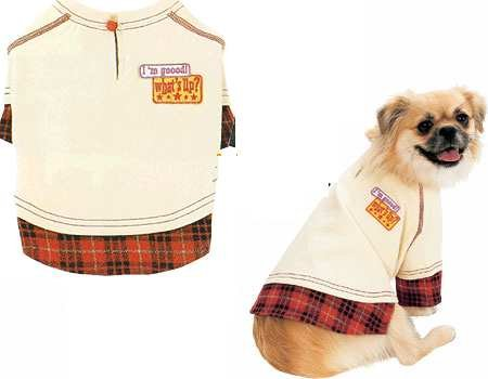 Doggie Tee - College Style in Light  Yellow