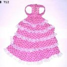 Doggie Floral Dress - Pink