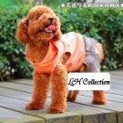 Doggie;s vest & pants in one piece - Orange Color