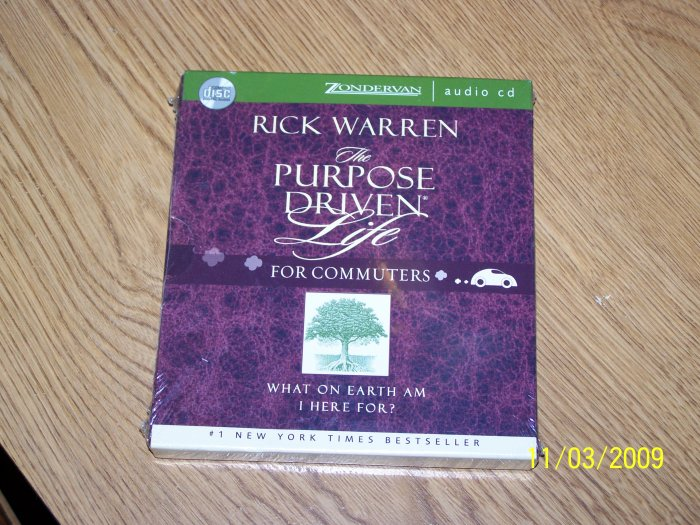 Rick Warren The Purpose Driven Life for Commuters Audioj CD New.