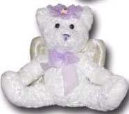 100% Soy Wax Dipped Purple Angel Bear