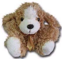 """100% Soy Wax Dipped """"Curly D"""" Plush Dog"""
