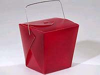Burgandy Take Out Container