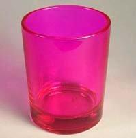 Single Pink Votive Holder
