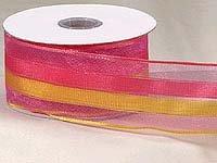 Pink/Yellow Sheer Stripe (10yards)