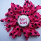 Daddy's Girl Pink Korker Bow