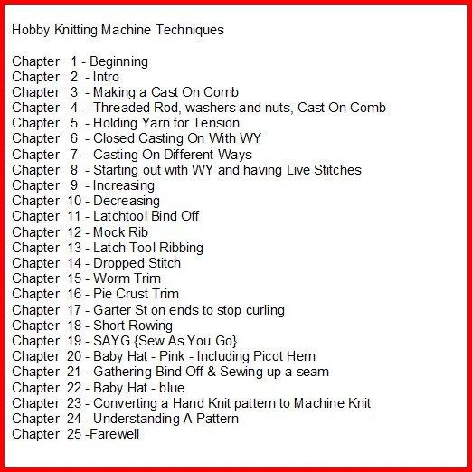 Hobby Knitting Machine DVD Tutorial Disk 1