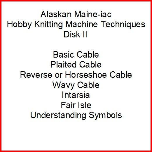 Hobby Knitting Machine DVD Tutorial - Disk 2