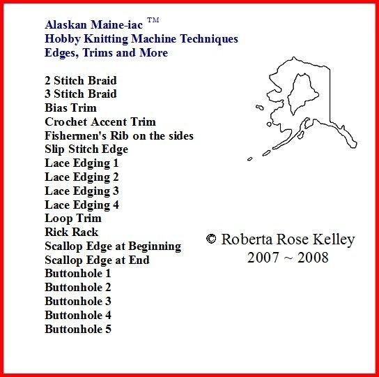 Hobby Knitting Machine Edges, Trims & More DVD