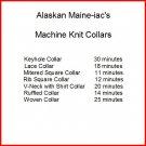 Machine Knit Collars