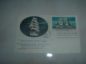 Coast Guard Cutter, Eagle FDC Post Card