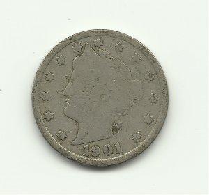 1901 #1 V Liberty nickel