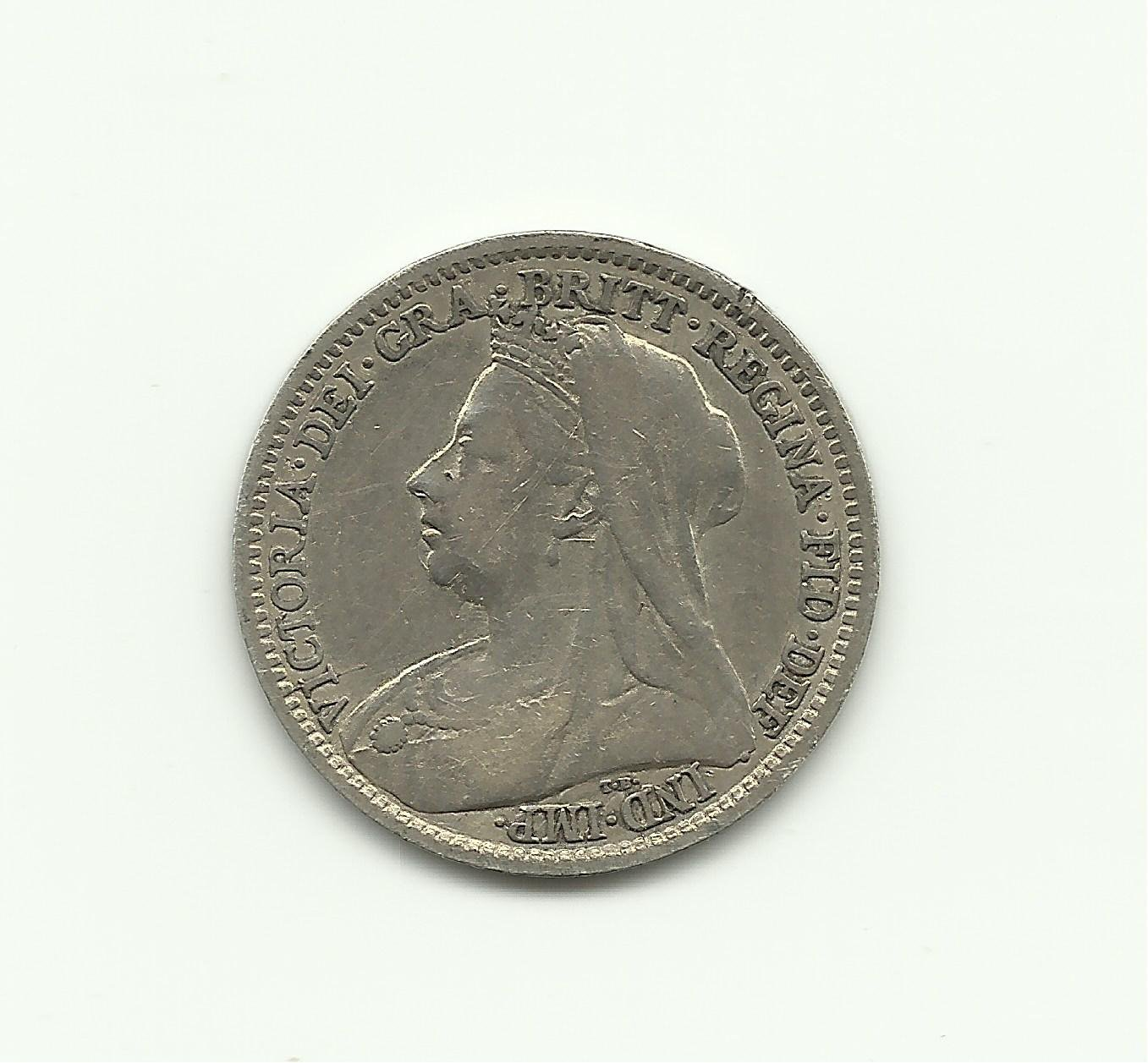 1895 3 Pence UK Silver Collection