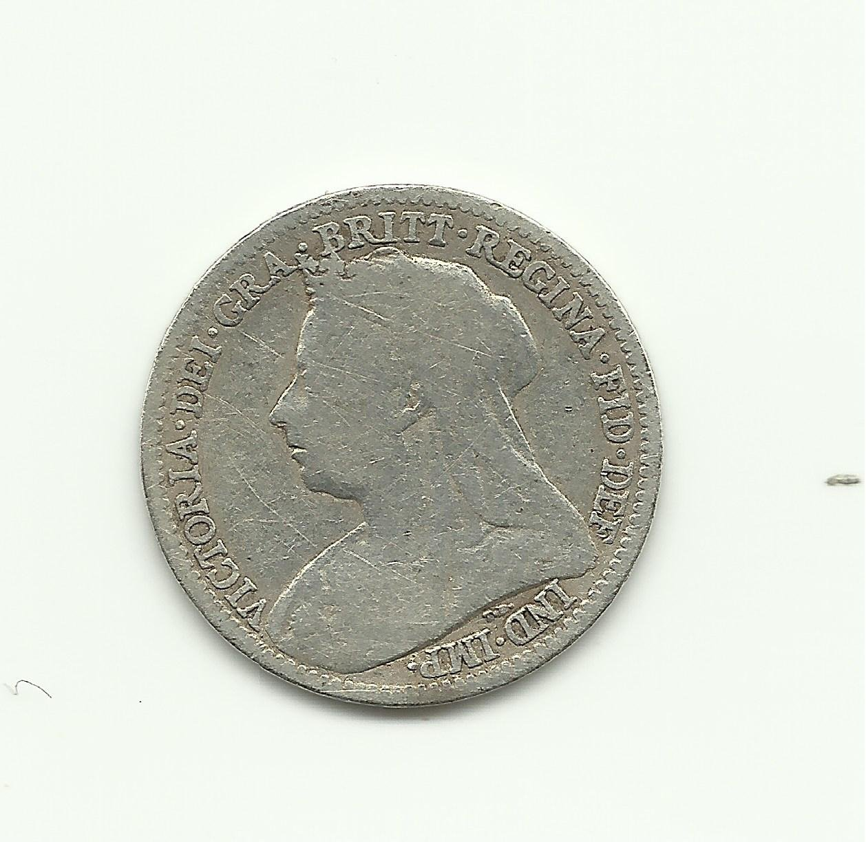 1893 3 Pence UK Silver Collection