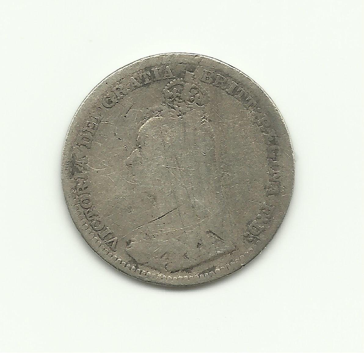 1890 3 Pence UK Silver Collection