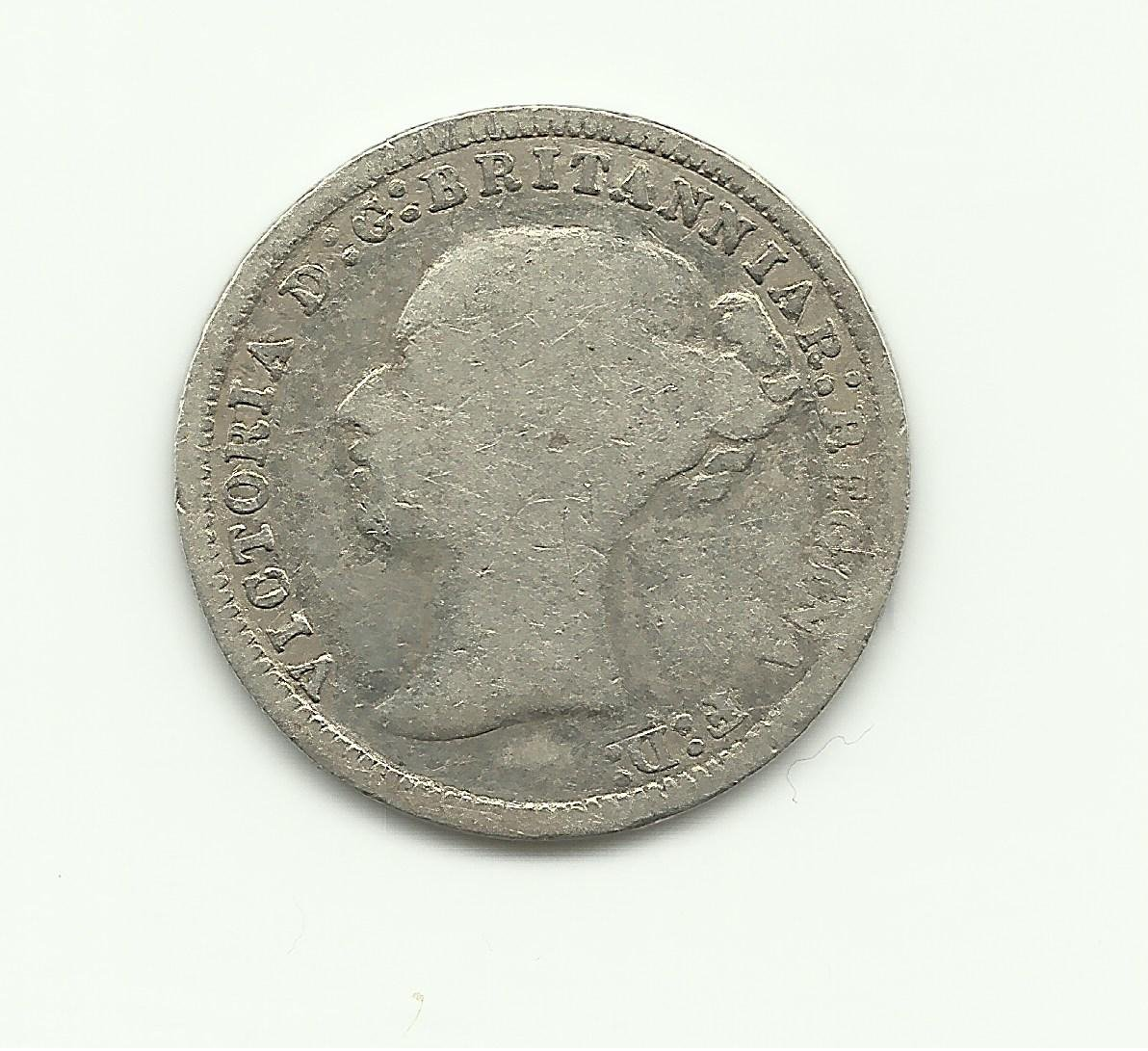 1875 3 Pence UK Silver Collection