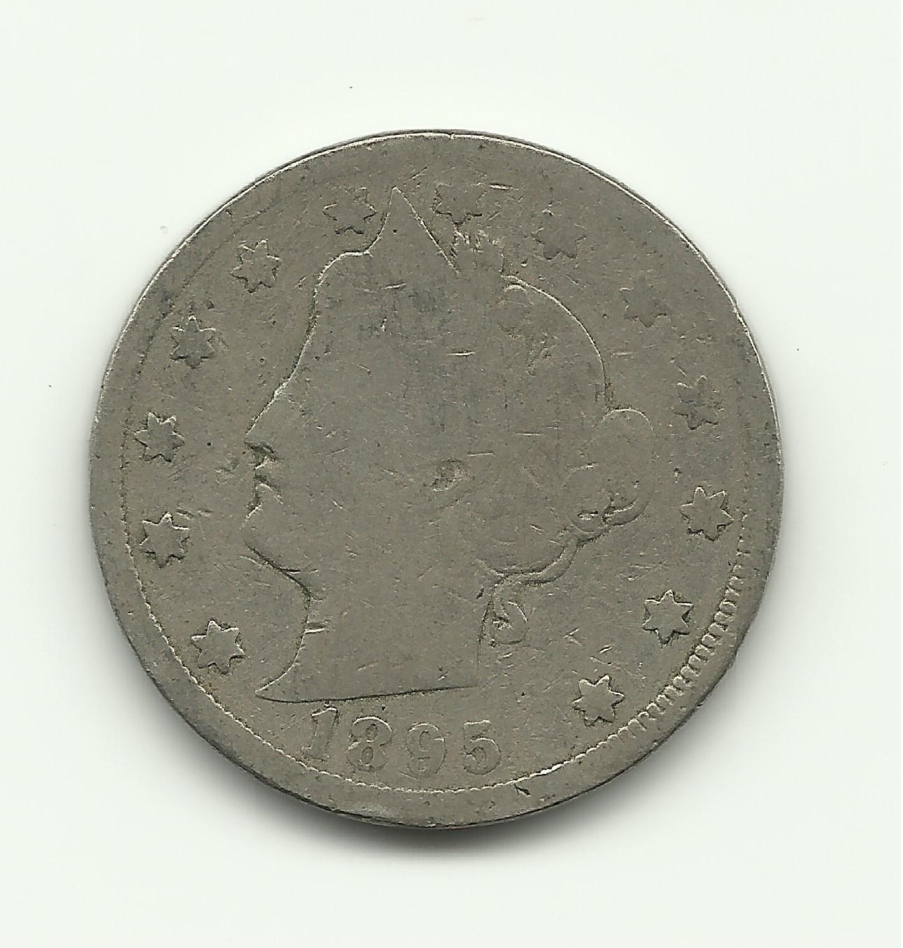 1895 #1 V Liberty nickel