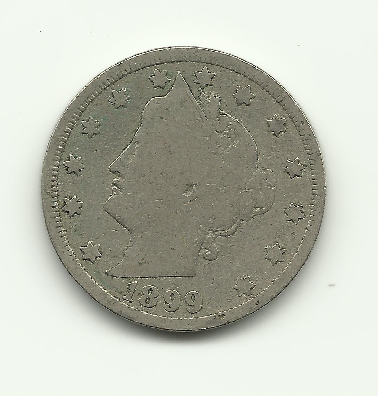 1899 #8 Liberty V Nickel