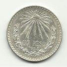 1934 #1 Mexican Un Peso Silver