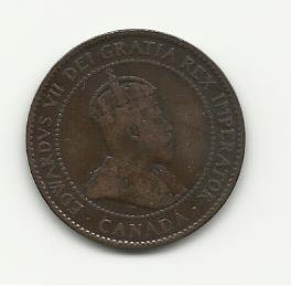 1902 #1 Canadian one cent