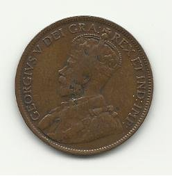 1918 #1 Canadian one cent