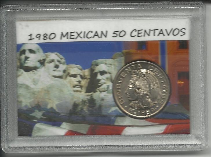 1980 Unc. Mexican 50 Centavos set