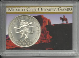1968 Gem BU Mexico City Olympic Games Silver Commemorative