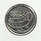 1992 Unc. Cayman Island $.10 coin
