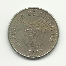2003 #1  Colombian 50 Pesos Coin