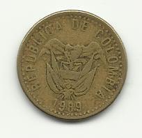 1989 #1 20 Pesos - Colombia.