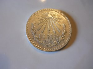 1926 #1  Mexican Un Peso Silver Dollar
