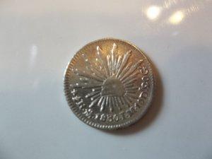 1830-Mo JM #1  Silver Mexico 1/2 Reale.